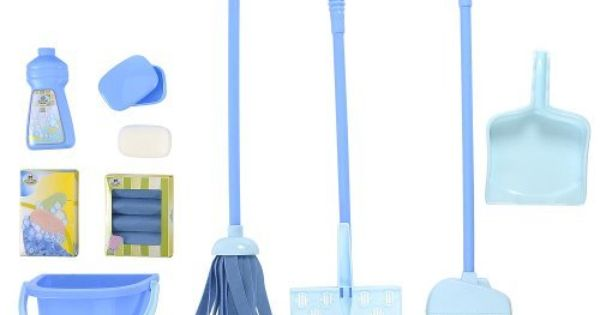 Just Like Home Deluxe Cleaning Set Blue By Toys R Us