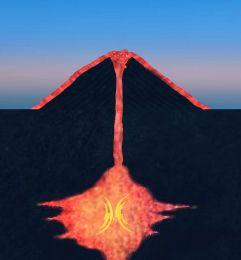Detailaufnahme Der Vulkan Simulation Vulkanausbruch Vulkan Schule Grundschule