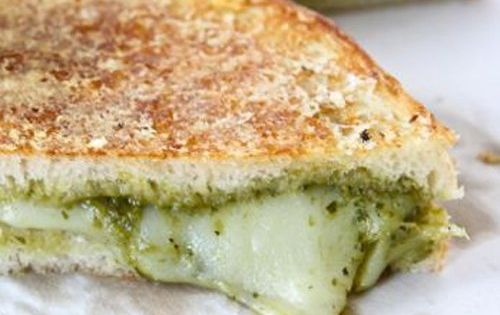 Parmesan Crusted Pesto Grilled Cheese Sandwich | Recipe | Homemade ...