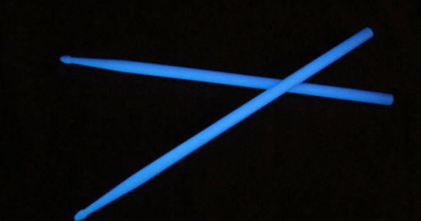 hiptrix glow in the dark drumsticks 2nd quality blue 5a. Black Bedroom Furniture Sets. Home Design Ideas