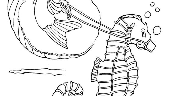 Kids Printable - Seahorse Coloring Page