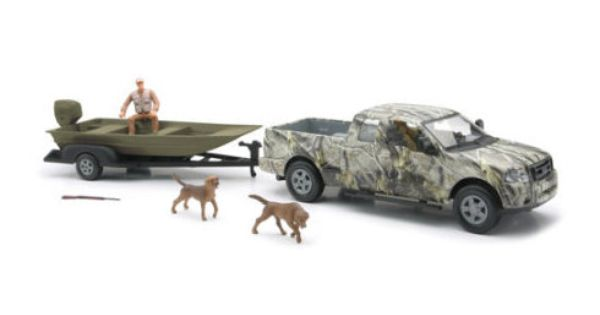 Toys From Cabela S : New ray toys company wild hunting camo pickup with boat