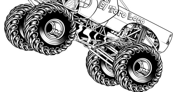 Free Printable Monster Truck Coloring Pages For Kids Vehicles Pinterest Monster trucks