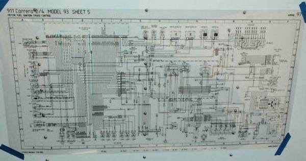 Porsche Poster Schematic 964 Engine Wiring Ebay Porsche