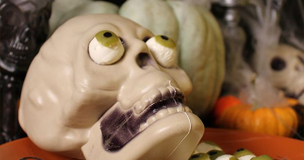 Creepy Mozzarella Eyeballs! They say you should watch what you eat, but
