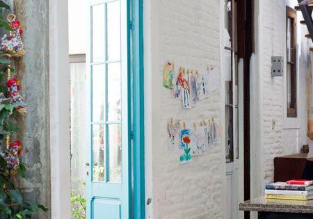 Interiores 137 lo bueno pintura de pizarra turquesa y for Pintura interior turquesa