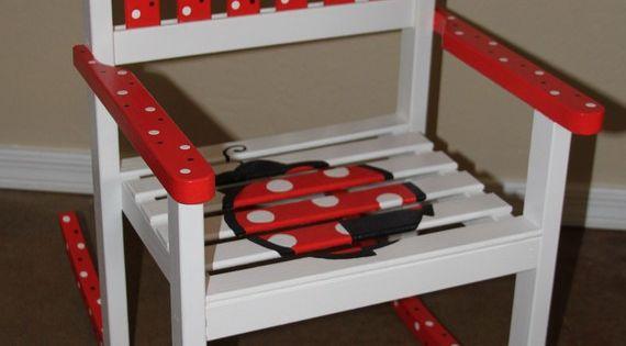 Sale Ladybug Rocking Chair by JanieBeans on Etsy, $120.00  Ladybug ...
