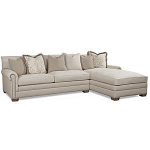 Huntington House 7107 Sectional Sofa Group Sectional Sofa With