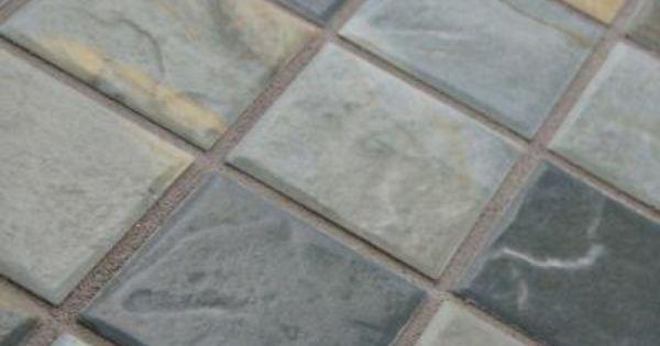 Merola Tile Ardesia Slate 11 5 8 In X 11 5 8 In X 6 Mm Porcelain Mosaic Tile Wtcardsl Mosaic Tiles Ceramic Tile Bathrooms Tiles
