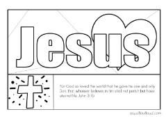 John 3 16 Printable Coloring Page Add This To Your Next Letter To