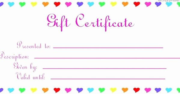 Birthday Gift Certificate Template Word Inspirational Blank Certificates To Prin Gift Certificate Template Word Printable Gift Certificate Printable Gift Cards