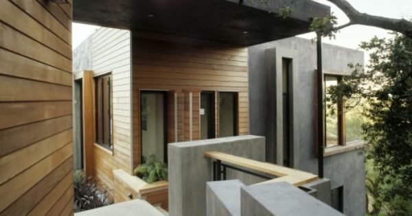 The Material Exterior On The House Is 6 Inch Red Cedar Channel Siding There Is A One Inch Overlap So The Width Modern Exterior Exterior Design Architect House