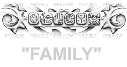 family mayan glyphs tattoo design d 187 � aztec tattoos