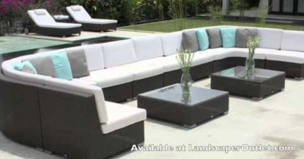 Bellagio 4 Piece Cabana Sectional Set Outdoor Daybed Patio Furniture Sets Pool Furniture
