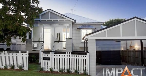 Grey white and black for the home pinterest gray for Queenslander exterior colour schemes