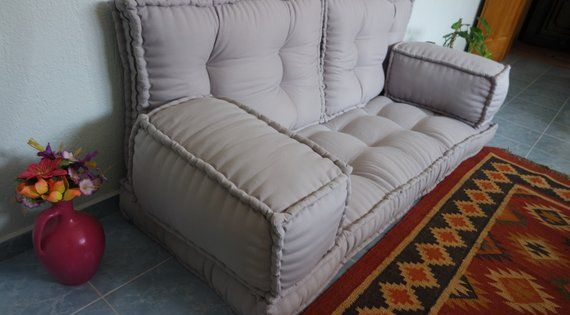 French Mattress Sofaarabic Style Majlis Floor Sofa Setfloor Etsy Mattress Sofa Floor Seating Floor Couch