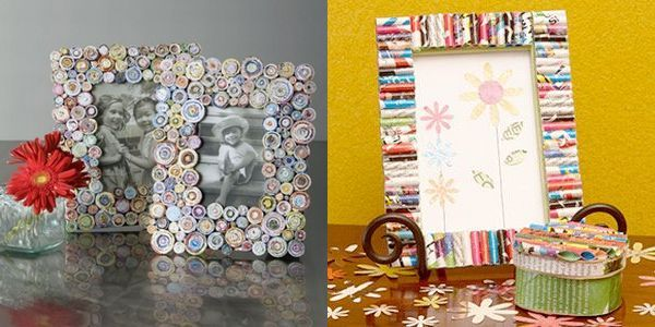 How To Make A Picture Frame From Recycled Paper Diy Newspaper