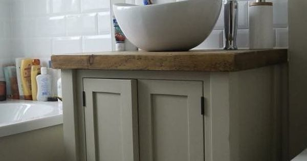 Details About Chunky Rustic Painted Bathroom Sink Vanity Unit Wood Shabby Chic Farrow Ball