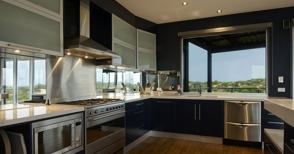 Best Modern Kitchen Of The Day A Deep Blue Kitchen With An 400 x 300
