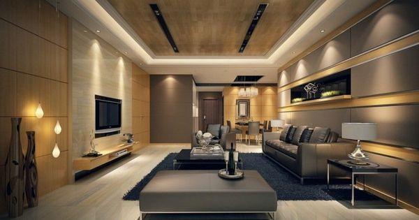 Éclairage led salon – 30 idées ultra modernes  Taupe, LED and ...