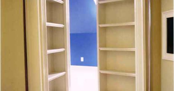 Secret room. Hidden room. Bookcase. Bookshelf doors. Storage. Home ideas. Hidden passage.