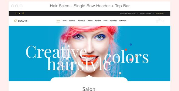 Hair Salon - Hairdresser WordPress - #columns-4 #barber #beauty ...