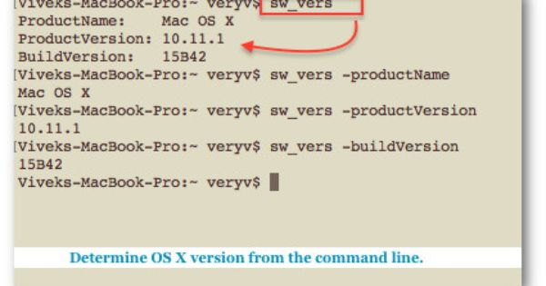 How To Find Out Mac Os X Operating System Version Information From Terminal Command Prompt How To Find Out Prompts Version