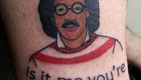 where's waldo tattoo - or is it Lionel Ritchie Tattoo ...