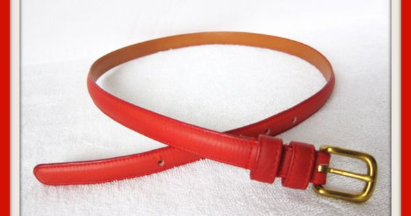 Christmas Red Gift Vintage Coach Leather Belt Classic Design With Solid Brass Buckle Gift For Her Redgif Brass Buckle Coach Belt Vintage Leather Belts