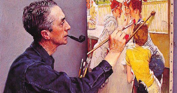 1953 Self Portrait Painting Soda Jerk Norman Rockwell Norman Rockwell Paintings Rockwell Paintings Norman Rockwell Art