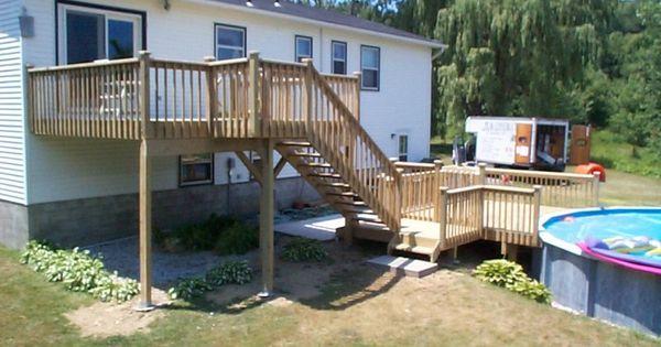 Multi Level Deck Ideas Find Above Ground Pool Deck