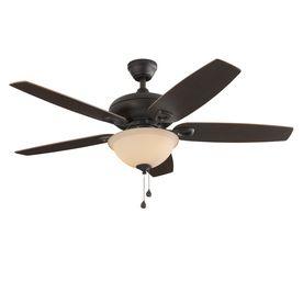 Shop Harbor Breeze Coastal Creek 52 In Bronze Indoor Downrod Or Close Mount Ceiling Fan With Light Kit At Lowes Co Ceiling Fan With Light Fan Light Ceiling Fan