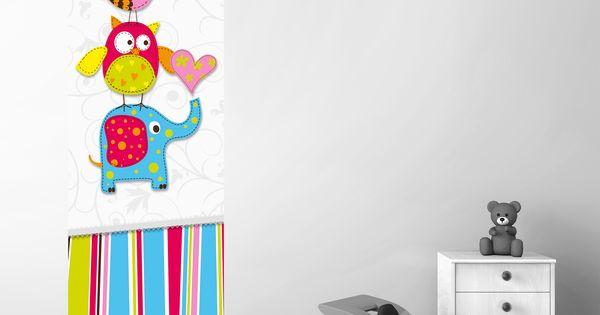 Babykamer Muurdecoratie Ideeen : en kleurrijk muursticker paneel ...