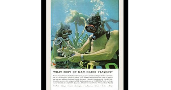 Scuba diving tropical fish photo ad playboy by for Diving and fishing mural
