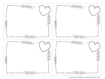 Love Note Template Freebie Notes Template Notes To Parents