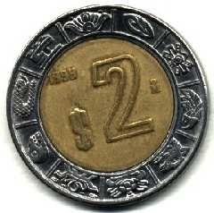 Moneda De 2 Pesos Mexico Monedas Valor De Monedas Antiguas Coleccionar Monedas