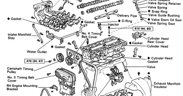 4A   GE  exploded view    Everything AE86   Pinterest   Exploded view     Toyota       corolla    and Garage