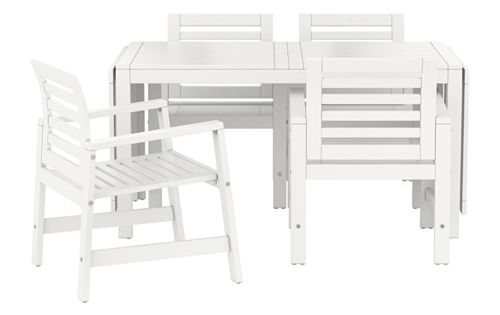 pplar tisch 4 armlehnst hle au en braun las aussen ikea und tisch. Black Bedroom Furniture Sets. Home Design Ideas