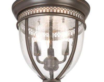Hampton Bay Interior Foyer Lantern : Hampton bay light oil rubbed bronze flushmount