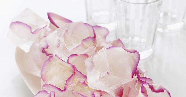 Sweet Paul's Rose Petal Ice Cubes - Makes any drink super-fancy! In