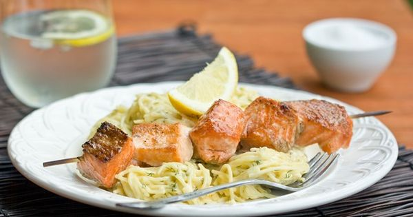 Salmon, Kabobs and Spaghetti on Pinterest