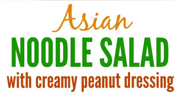 Asian noodle salads, Cookout side dishes and Noodle salads on ...