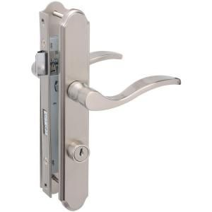Wright Products Satin Nickel Serenade Mortise Set Vmt115sn At The Home Depot Storm Door Handle Door Handles Door Latch