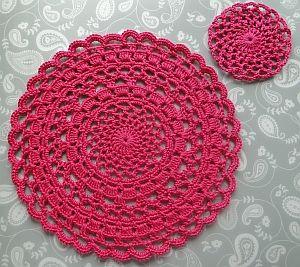 Crochet Doily Pattern Crochet Placemat Patterns Crochet Mandala Pattern Crochet Doily Patterns