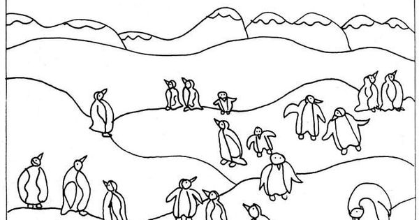 waddles the penguin coloring pages - photo #27