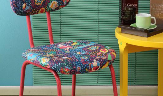 Image result for cadeiras antigas reformadas ap - Como forrar una silla de escritorio ...