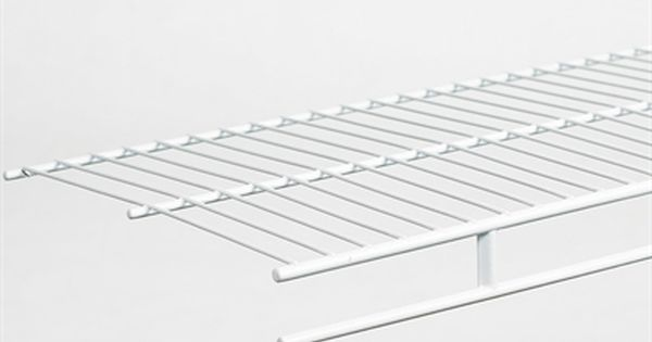 Closetmaid Closet Organizer 1341 4 Ft X 12 In White Wire Shelf