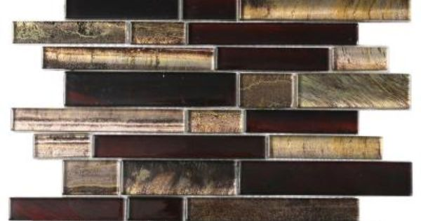 Msi 12 In X 12 In X 8 Mm Artista Interlocking Glass Mesh Mounted Mosaic Tile 1 Sq Ft Glsbil Art8mm The Home Depot Mosaic Tiles Mosaic Mosaic Glass