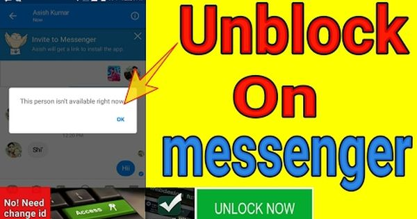 How To Unblock On Facebook Messenger No Need Change I D Community Trick More Info On Http Lifewaysvillage Com Videos How To Unblock On Facebook Messenger