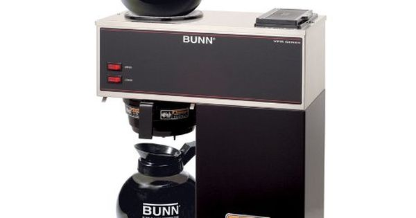 BUNN 33200.0015 VPR-2GD 12-Cup Pourover Commercial Coffee Brewer with Upper and Lower Warmers ...